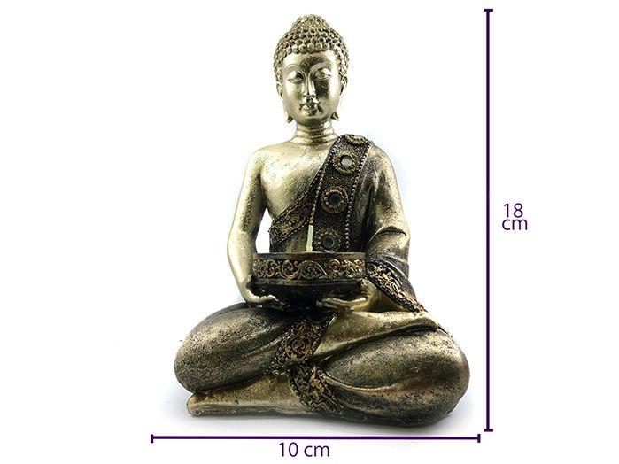 Buda Tibetano Meditando 18 x 10 cm