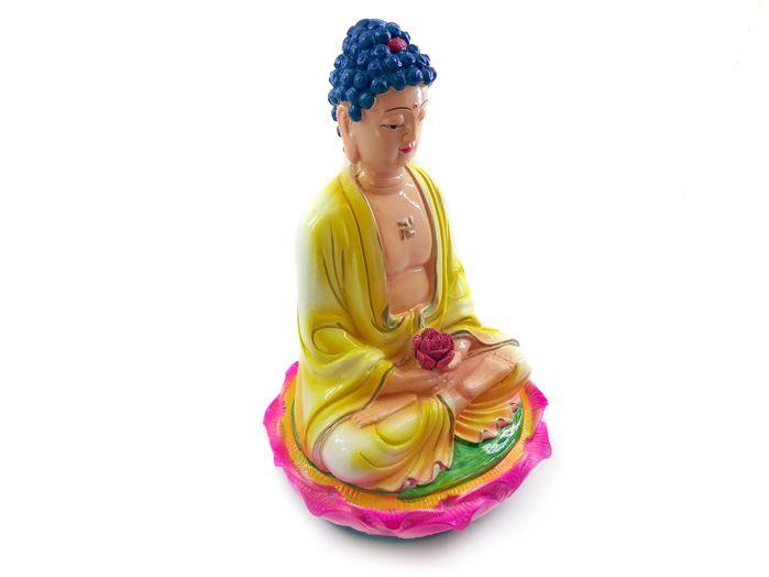 Supremo Príncipe Buda Sidarta Gautama Resina 18 X 11 Cm