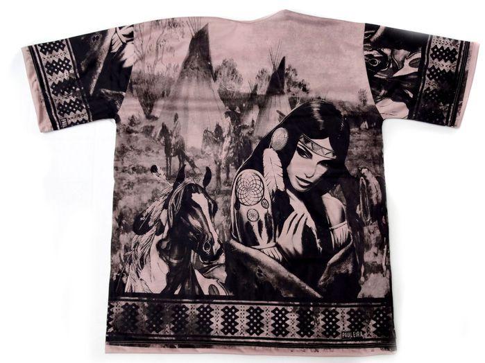 Camiseta Masculina Marrom Índia G