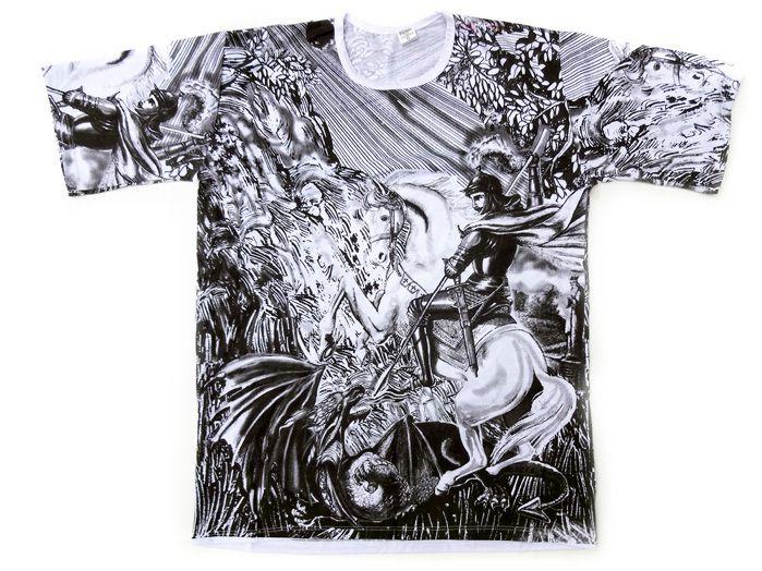 Camiseta São Jorge - Masculina Preta G