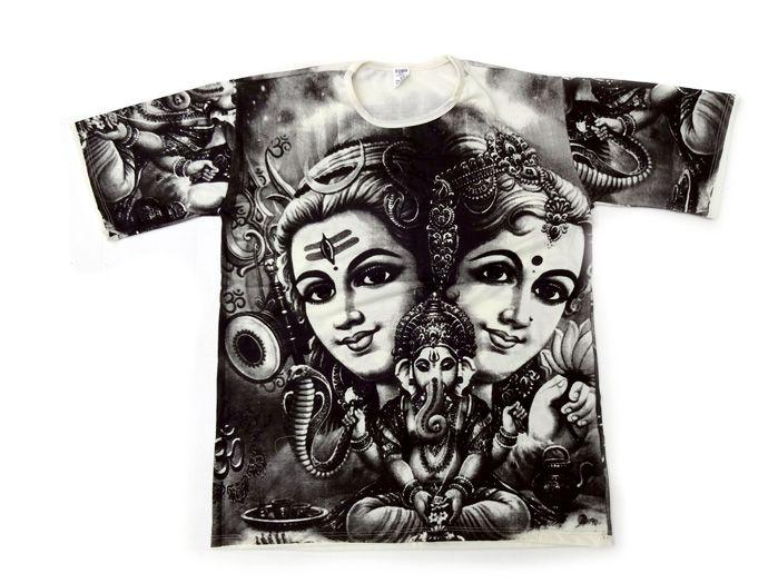 Camiseta Deus Shiva e Deus Ganesha - Unissex Amarelo