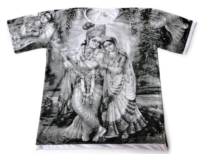 Camiseta Unissex Krishna e Padma