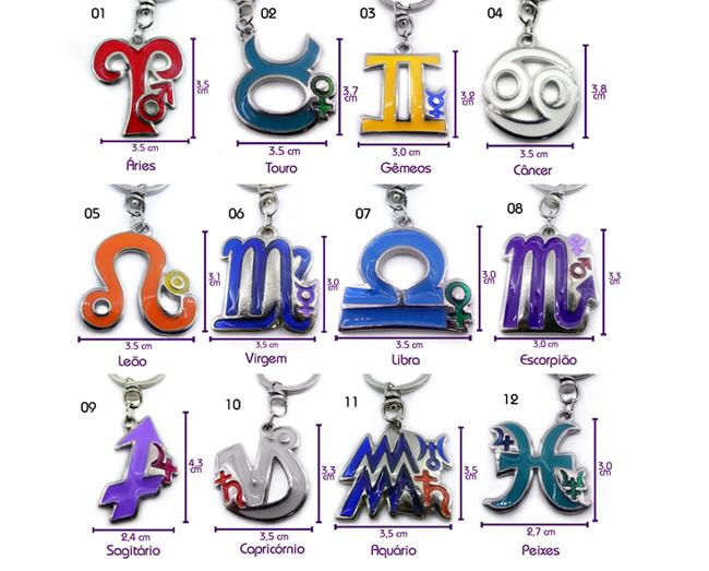 Chaveiro Astrologia Resinados Signos I