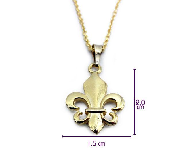 Colar Flor De Lis 2 cm