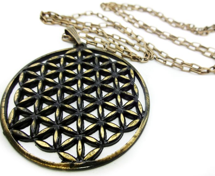 Colar Flor Da Vida Geometria Sagrada  5 cm
