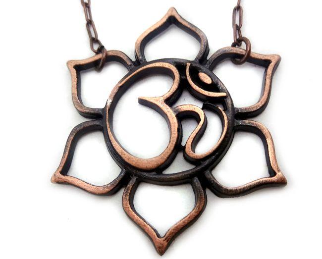 Colar Om Flor De Lotus Vazado