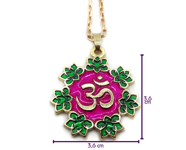 Colar Om Mandala - Resinado