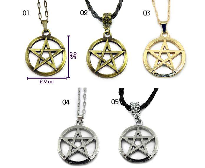 Colar Pentagrama Vazado