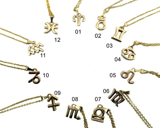 Colar Signos do Zodiaco - Dourado