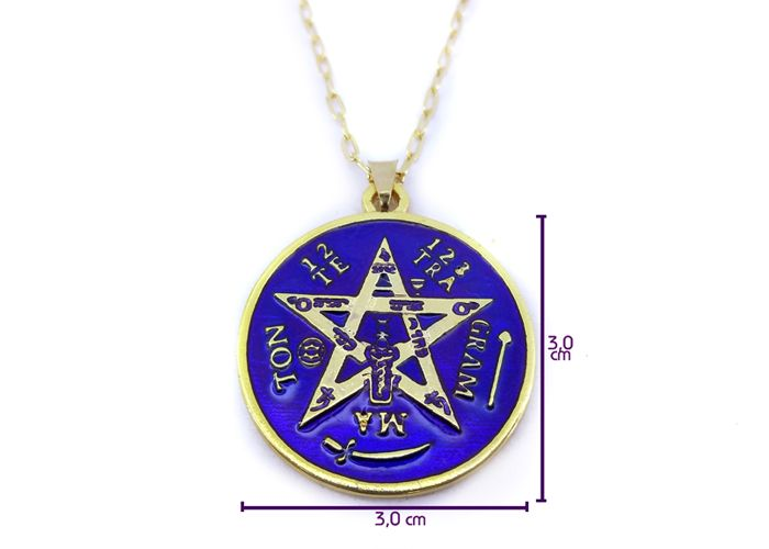 Colar Tetragrammaton Amuleto - 3 cm