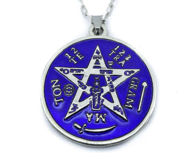 Colar Tetragrammaton Amuleto 3 cm