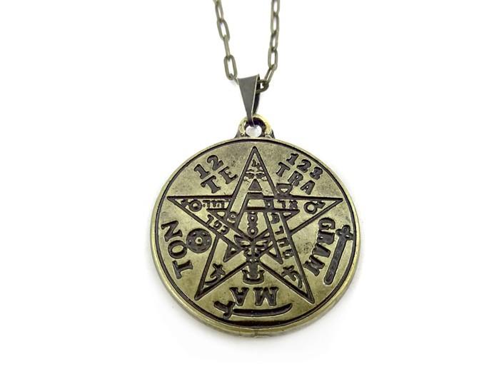 Colar Tetragrammaton Poderoso Símbolo 3 cm