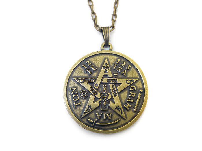 Colar Tetragrammaton Poderoso Símbolo 4 cm