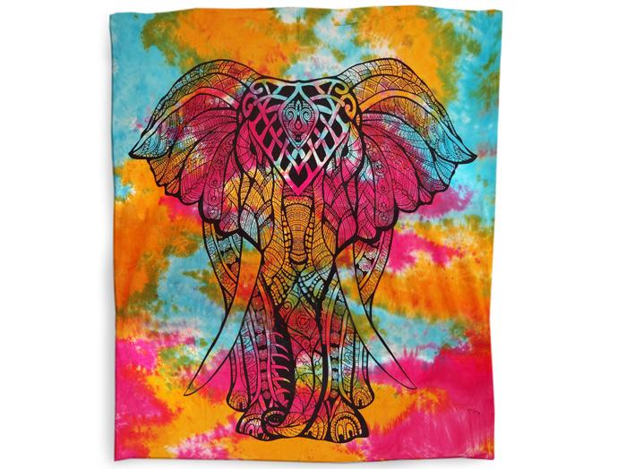 Lençol Casal Indiano Tie Dye Colcha