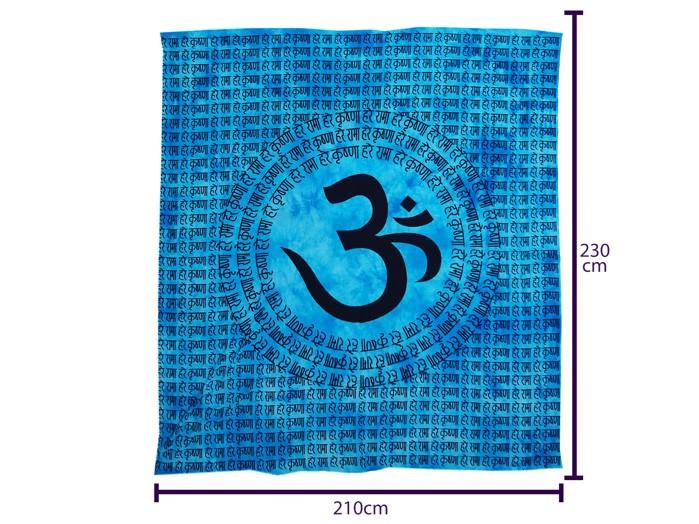 Lençol Casal Indiano Colcha  Azul