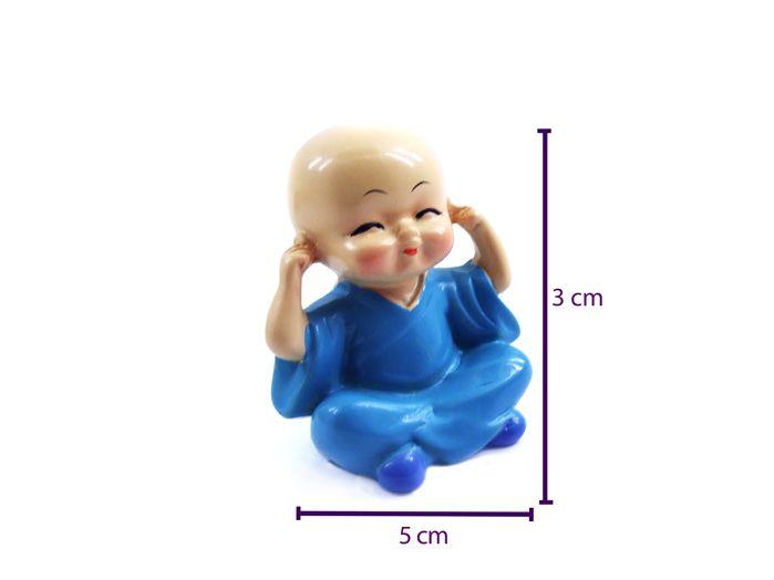 Conjunto Monges Budas Sábios Cego Surdo Mudo 3 x 5 cm