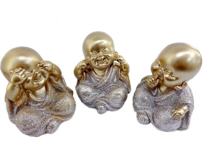 Conjunto Monges Dourados Sábios Cego Surdo Mudo Médio
