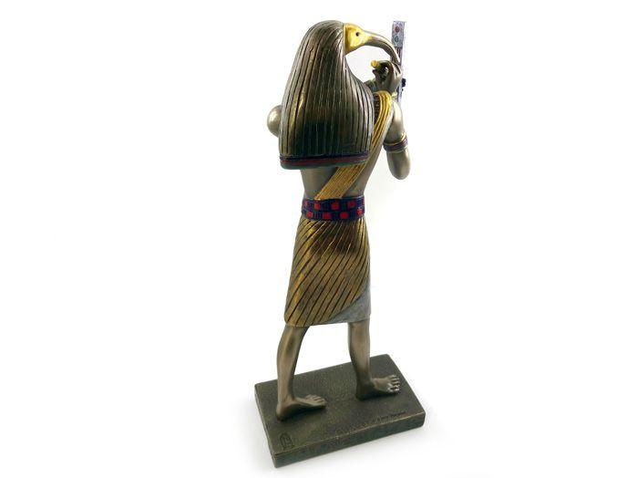 Estátua Deus Thoth - 23 x 10 cm Resina