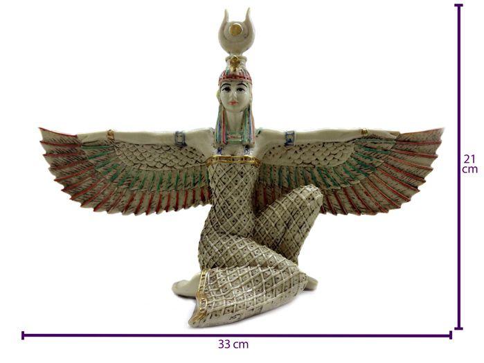 Deusa Ísis Marfim 21 cm