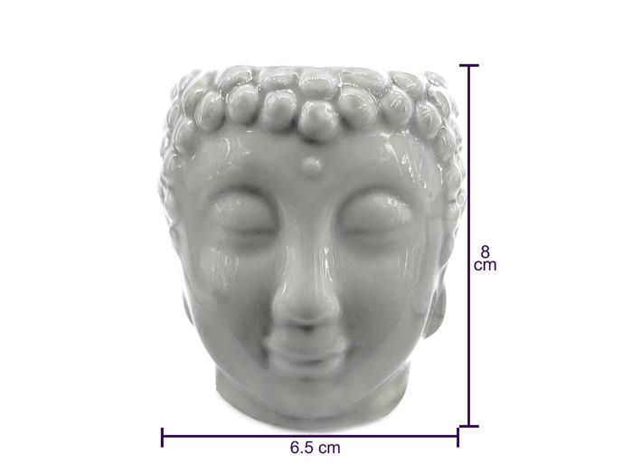 Difusor De Aroma Rechô Em Cerâmica Buda 8 cm