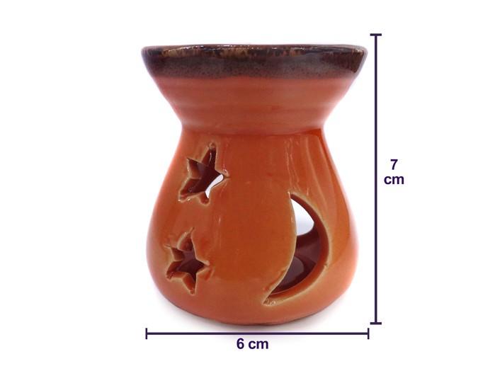 Difusor De Aroma Rechô Lua Em Porcelana Médio