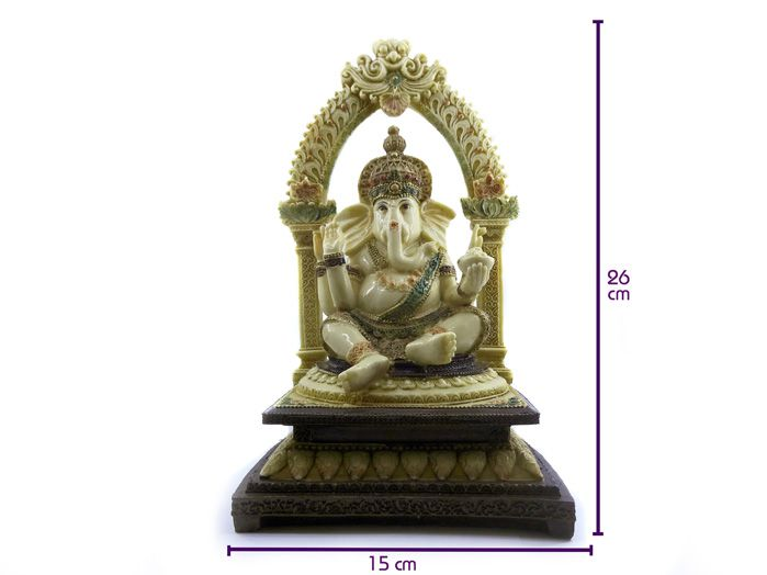 Estátua De Ganesha Altar 26 X 15 cm