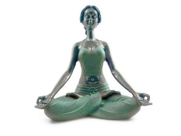 Estátua Yoga Padmasana 16 x 12cm