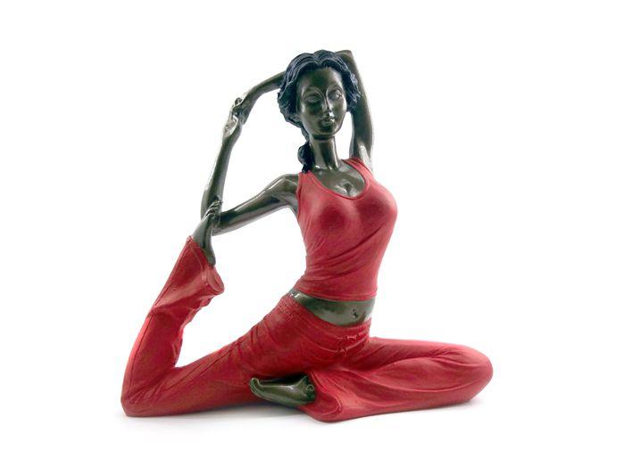 Estátua Yoga Asana 17 x 16cm