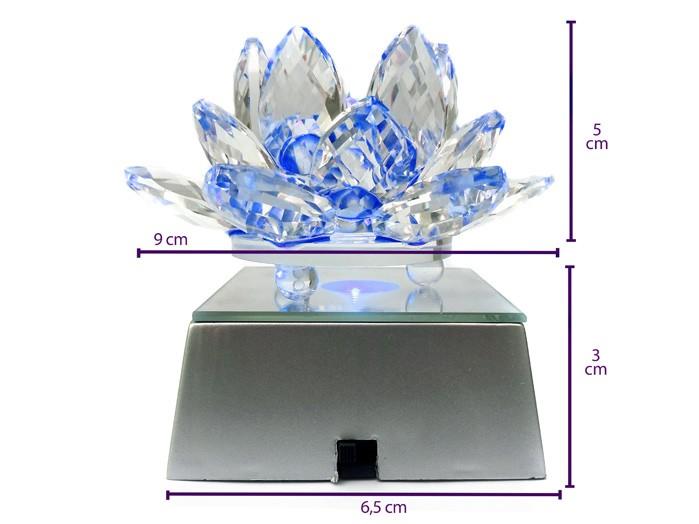 Flor De Lotus Cristal  Led Cores