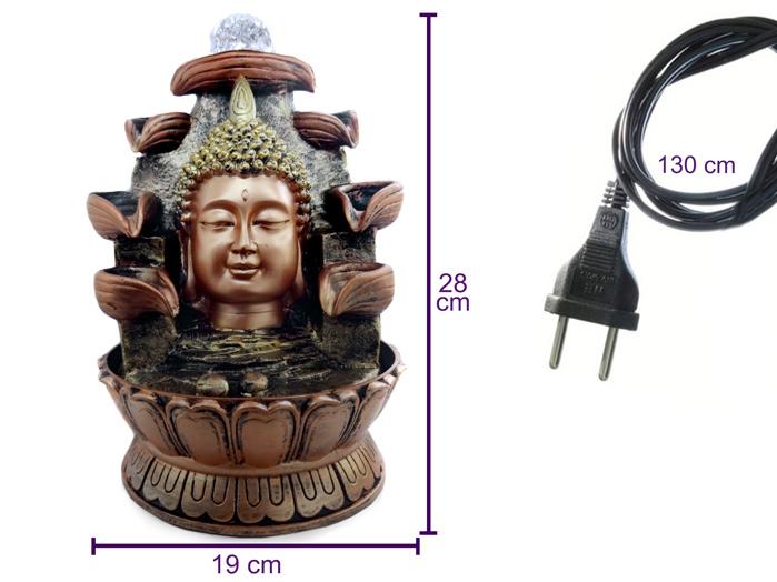 Fonte de Água Cabeça Buda 28 cm