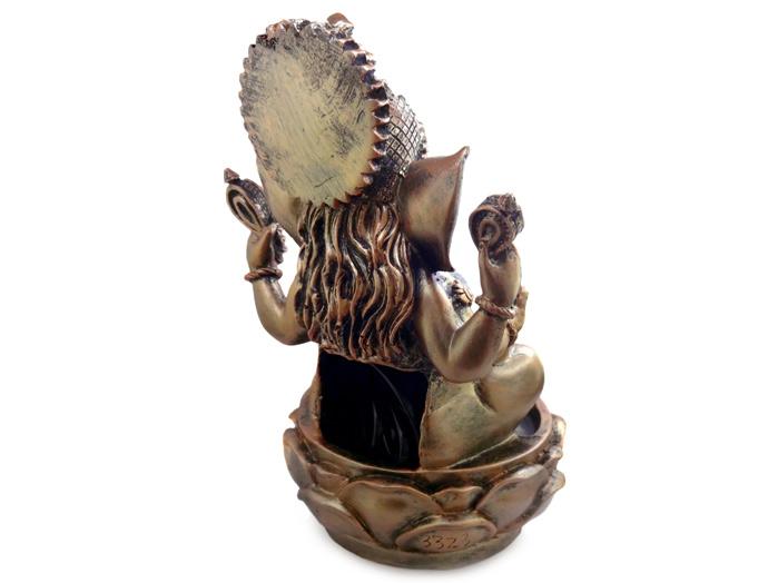 Fonte de Água Deus Ganesha Led Colorido 28 cm