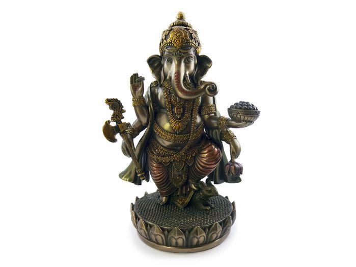 Ganesha Deus da Prosperidade 19 x 12 cm Dourado