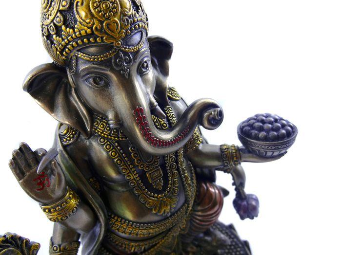 Ganesha Deus da Prosperidade - 19 x 12 cm Dourado