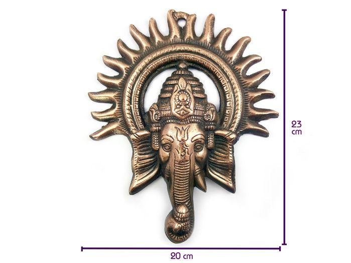 Ganesha Sol  Estátua de Parede 23 x 20 cm