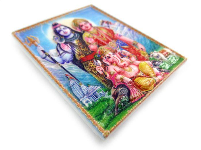 Imã de geladeira Família Hindu 7 x 5 cm