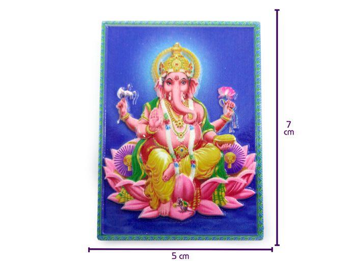 Imã de geladeira Ganesha Azul 7 x 5 cm