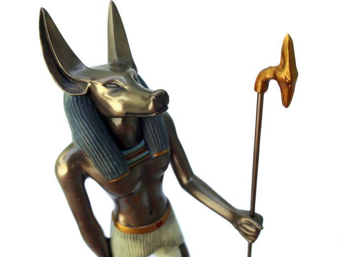 Imagem Deus Egípcio Anúbis 22 x 9 cm