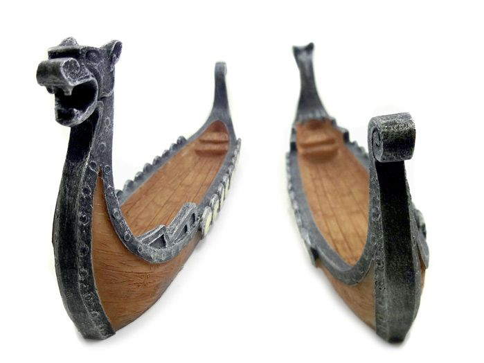 Incensário Barco Viking Prata Velho