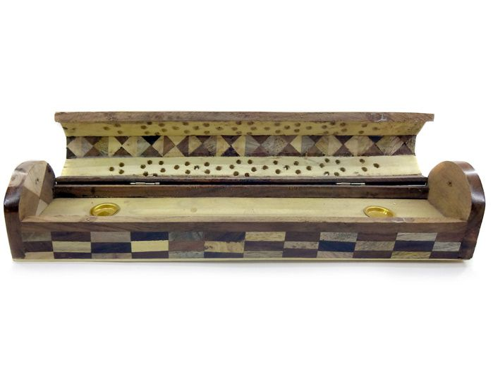 Incensário Baú Indiano Mosaico Arredondado
