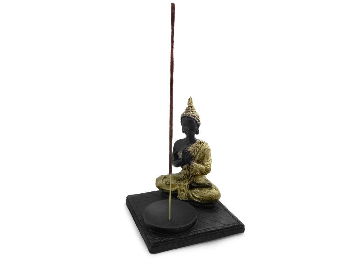 Incensário Buda Base Preta