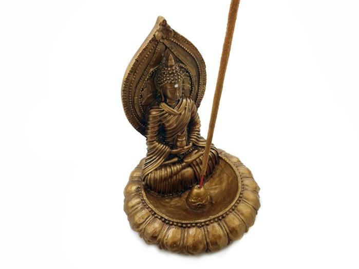 Incensário Buda Portal com Cristal
