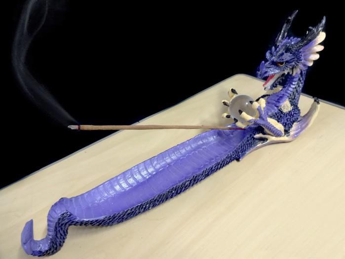 Incensário Canoa Dragão Lilás