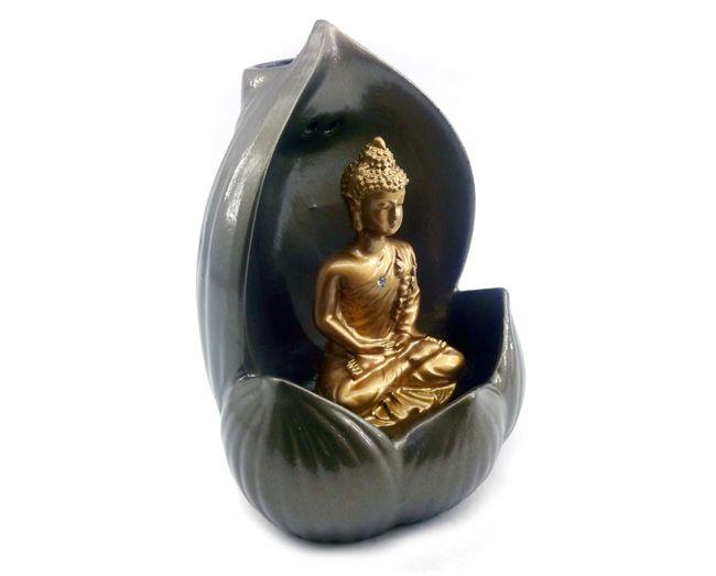 Incensário Backflow Buda - 12x9cm