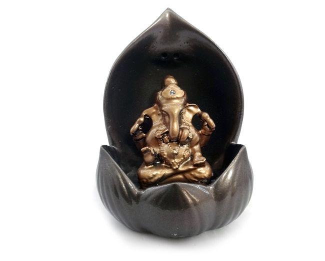 Incensário Deus Hindu Ganesha 12x9cm
