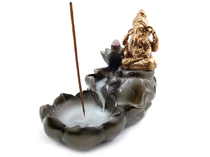 Incensário Cascata Ganesha 13 x 15 cm