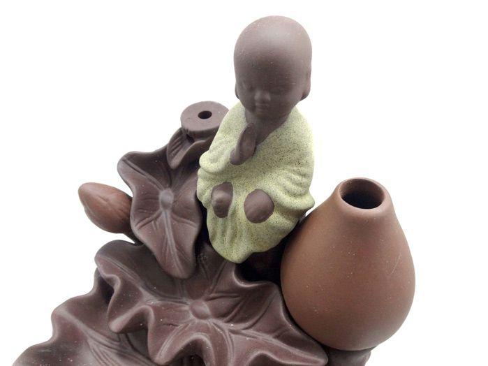 Incensário Cascata Monge com Vaso