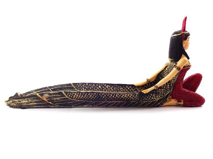 Incensario Isis Canoa Egípcia 11 x 25 cm