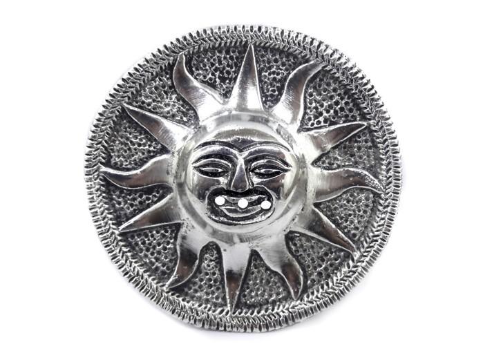 Incensário Metal Redondo Sol