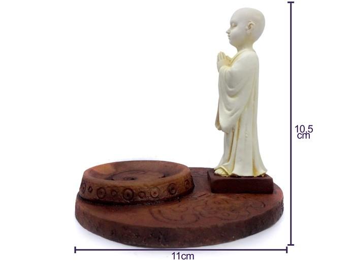 Incensário Monge 10 cm Incenso Palito
