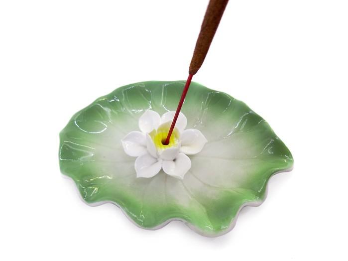 Incensario Porcelana Flor de Lotus 11 cm